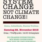 Mobilisierungsflyer Klima-Demo Graz