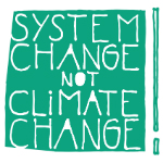 Logo System Change not Climate Change weiß
