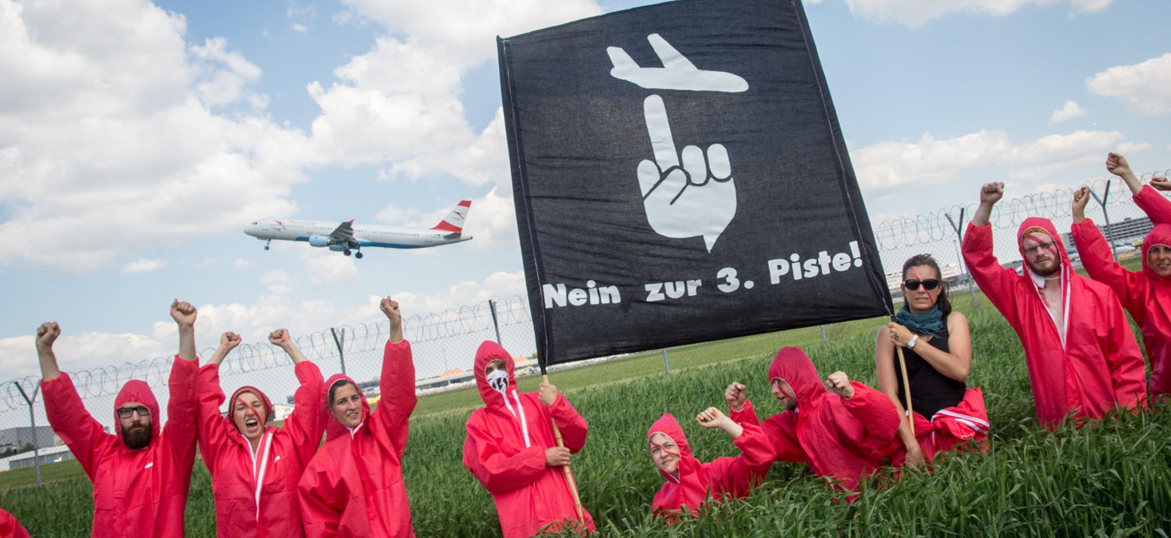 Infos zur dritten Piste am Flughafen Wien