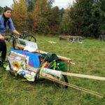 Lastenrad am Klimacamp Wien, 1. Oktober 2016