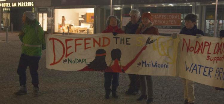 Presseaussendung: Standing Rock – Wir fordern Baustopp und Ende der Repressionen