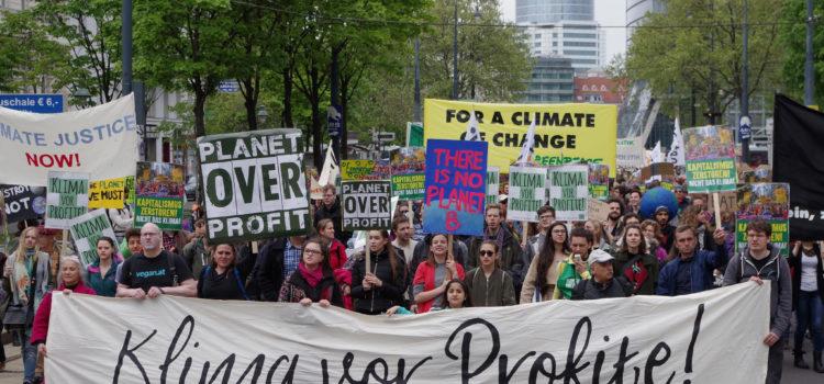 People's Climate March: 2.500 marschieren in Wien für das Klima