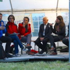 Podiumsdiskussion am Klimacamp: Ausstieg aus den Fossilen und gerechte Übergänge