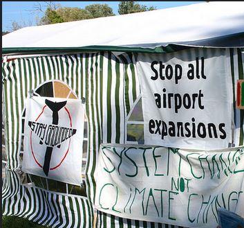 Flughafenwiderstand abseits der 3. Piste