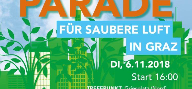 Parade für saubere Luft in Graz