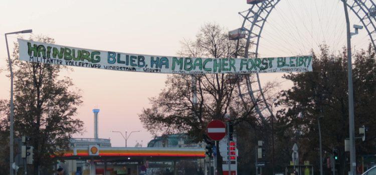 Hainburg blieb, Hambacher Forst bleibt!