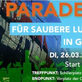 2. Parade für saubere Luft in Graz