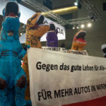 Dinosaurier Protest