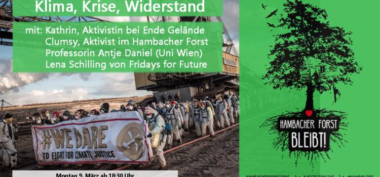 Podiumsdiskussion: Klima, Krise, Widerstand – Perspektiven & Strategien der Klimabewegung