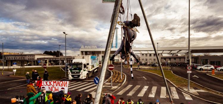 Presseaussendung: Ein Jahr nach der Blockade der Magna: Verkehrswende dringender denn je