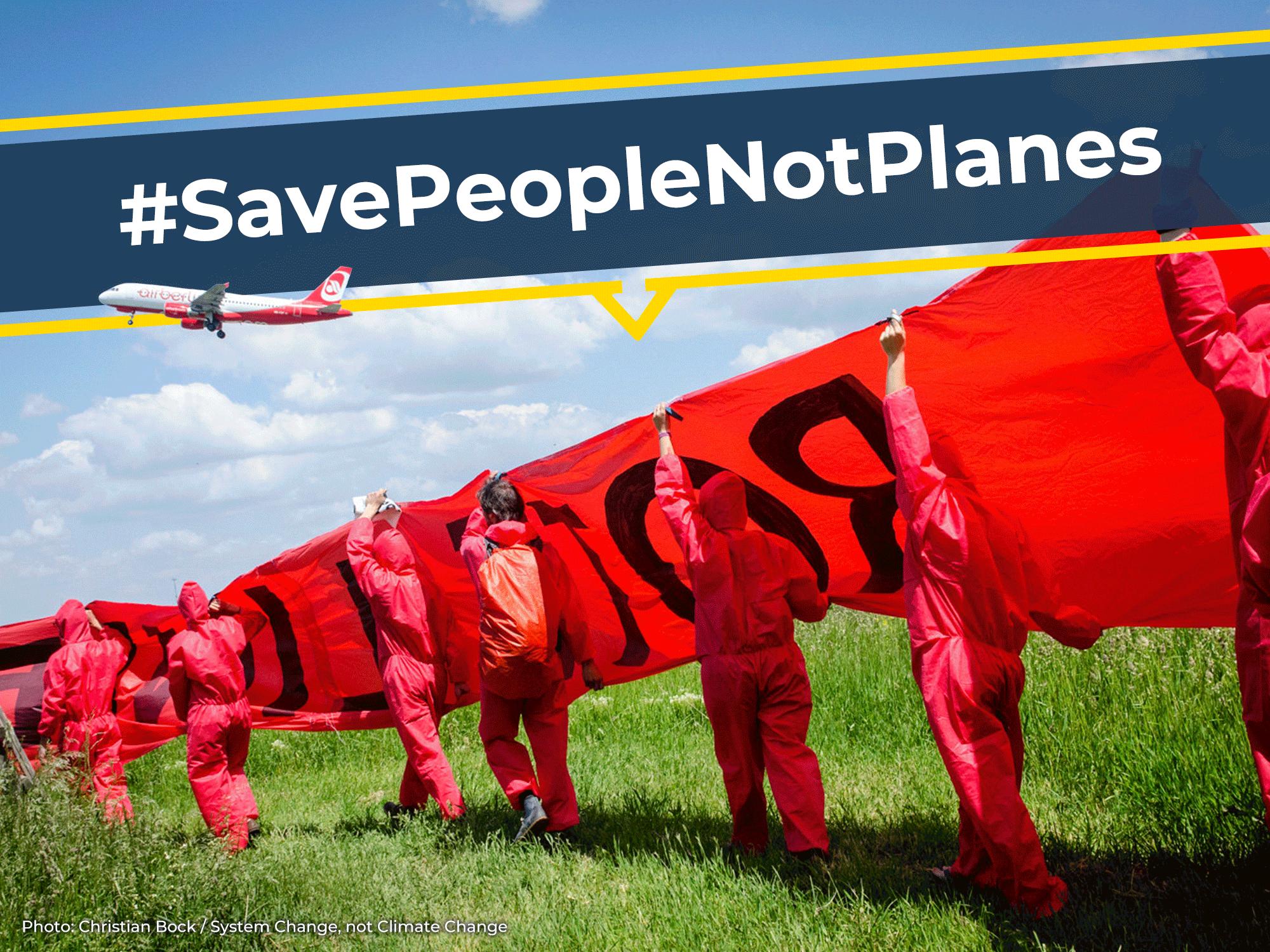 #SavePeopleNotPlanes: Keine Milliardengeschenke an die Flugindustrie