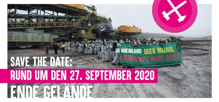 Ende Gelände 2020 – Save the Date