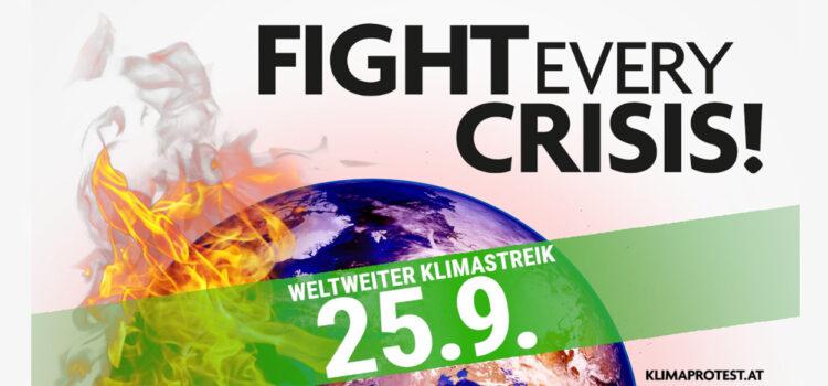 Fight every crisis! Weltweiter Klimastreik 25.09.