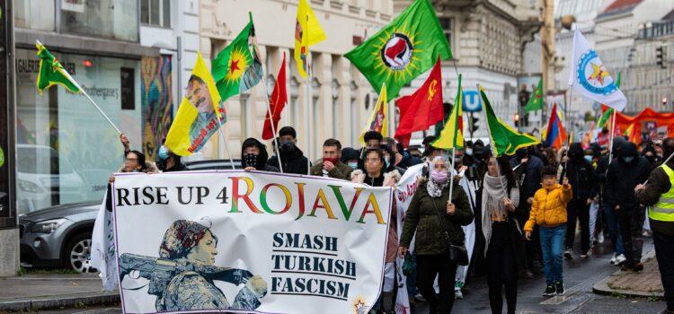 RiseUp4Rojava: Rede von System Change am Welt-Kobanê-Tag