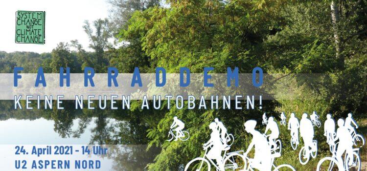 Fahrrad-Demo: Keine neuen Autobahnen