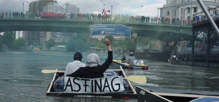 Presseaussendung: Lobau-Autobahn: Blockadeaktion mit über 150 Aktivist:innen am Donaukanal in Wien gegen fossiles Monsterprojekt