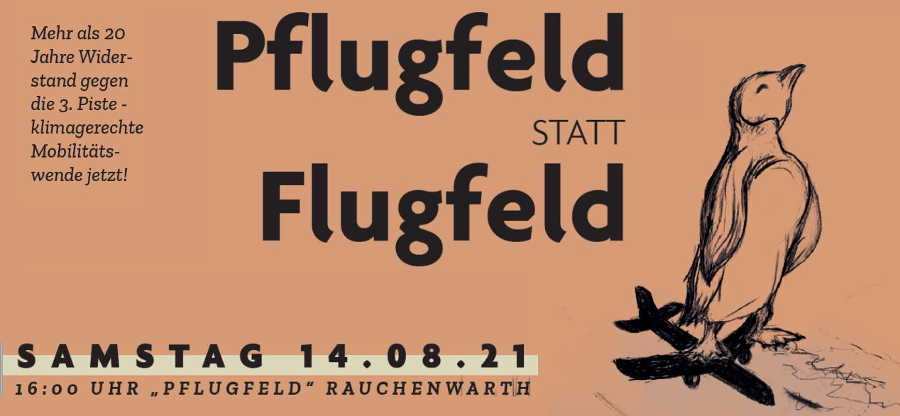 Pflugfeld statt Flugfeld