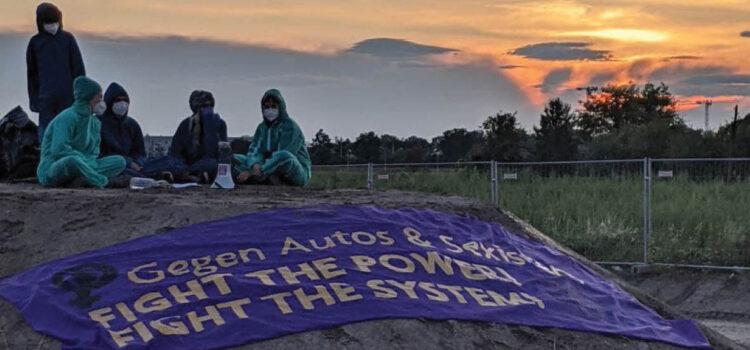 Presseaussendung: Klimaaktivist:innen schlagen Zelte auf Lobau-Bustelle auf