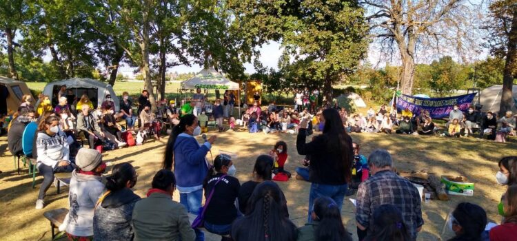 Rebelión y Rebeldía: Besuch der Zapatistas im Lobau-Protestcamp